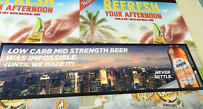 HAHN Super Dry 3.5 Bar Mat 'Experience the Taste' Collectable UNUSEDBRAND NEW