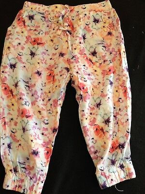 Girls Pants - Size 2 - Floral - Light Weight
