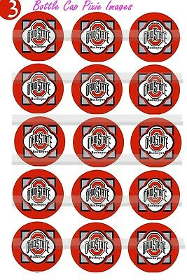 """$2.45-$5.50 ****FREE SHIPPING**** CLEMSON TIGERS 1/"""" CIRCLES  BOTTLE CAP IMAGES"""