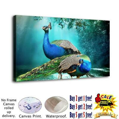 Beauty Peacock HD Canvas Print Painting Home Decor room Wall Art Picture 122173