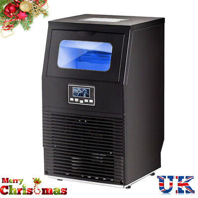 Digital 40kg Ice Cube Maker Machine Commercial Stainless Bar Restaurant ICEMAKER