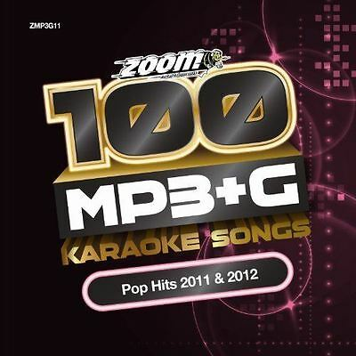 Zoom Karaoke 100 Pop Hits 2011 & 2012 MP3 + G New Sealed