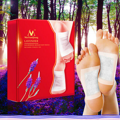 10 Pack Detox Foot Pads Patch Natural plant Toxin Removal 20 Sticky Adhesives AU