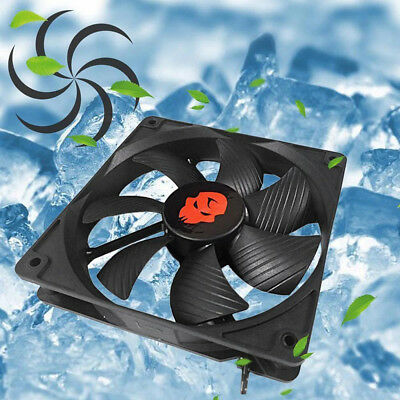 120MM PC Computer Cooling Fan High Speed Dual Ball Bearing Cooler 12V TOP