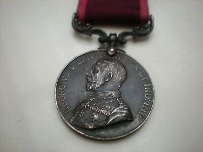 Médaille LONG SERVICE AND GOOD CONDUCT GEORGES V 1er GM 1stWW ATTRIBUéE  ARGENT