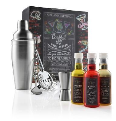 eKitch Cocktail Kit Gift Set - Including 750ml Shaker Accessories Bar Tools