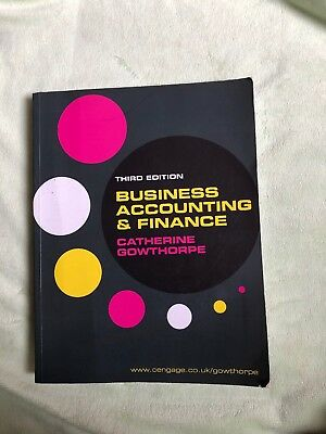 Business Accounting&finance 3rd Edition C. Gowthorpe