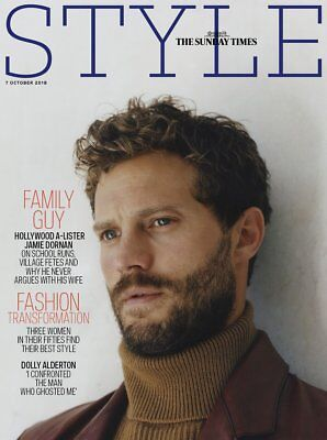 JAMIE DORNAN - Exclusive Interview The Style UK magazine 7th October 2018