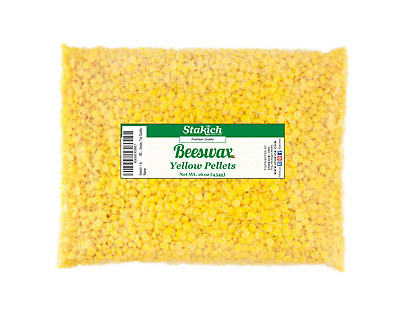 40 lb Yellow Beeswax Pellets Bee Wax 100% Natural Beads Granules on SALE