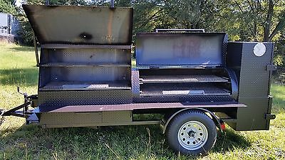 BBQ Smoker Grill Cooker Grill Rib Box Trailer food Catering Business Events Fair