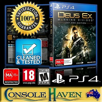 (PS4 Game) Deus Ex: Mankind Divided (Day One Edition) / DeusEx (MA) Guaranteed