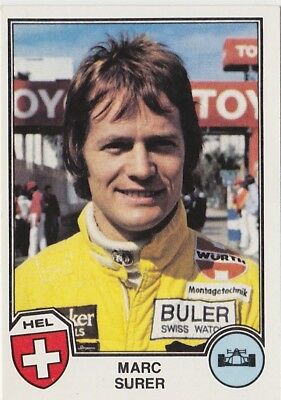 Panini Sports Superstars 1982 Marc Surer Suisse Automobile Formule 1