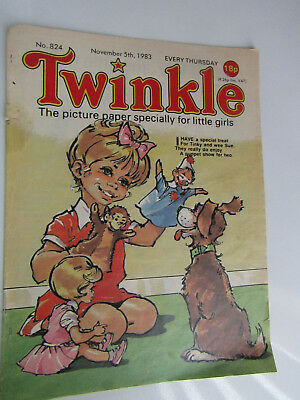 1983 Twinkle Comic, Puzzles done, Twinkle cut-out Doll & Clothes intact No 824