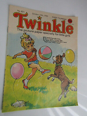 1983 Twinkle Comic, Puzzles done, Twinkle cut-out Doll & Clothes intact No 821