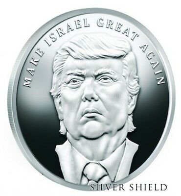 2017 1oz Silver Shield Make Israel Great Again Proof #6 Trump Prophecy Series