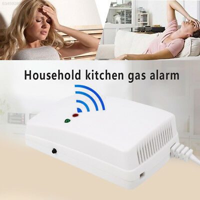 3A17 433 MHZ White Durable Gas Alarm Sensor Gas Detectors Home Kitchen