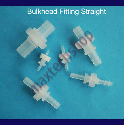Plastic Bulkhead Fitting Hose Barb Pipe Tube Reducing Connector Water Air Boat