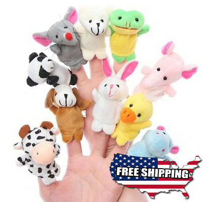 10Pcs/Pack Doll Children Kids Babys Cute Finger Baby Educational Hand Animal Toy