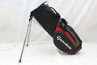 New Taylormade Purelite Stand Golf Bag Black Red Grey 5 Way Top