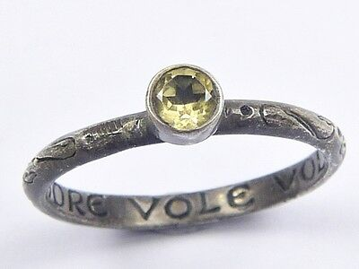 WONDERFUL ANTIQUE SILVER GENUINE POSY RING LOVE CANNOT EXIST WITHOUT TRUST 1800s