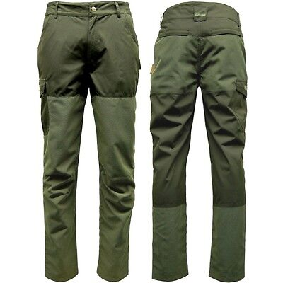 Hunting Ripstop & Waterproof Trousers Mens Army Green Game Excel 30 - 44 Inch