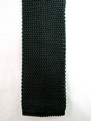 Land's End Flat/Square Bottom Mens Silk Knit Tie
