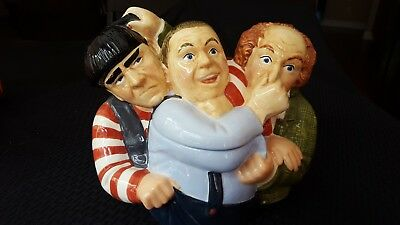 THREE STOOGES Moe, Larry and Curly Collectible Cookie Jar NEW
