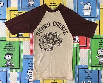 Rare Vintage 70S 80S Girl Scouts Super Cookie Youth T Shirt Raglan Retro
