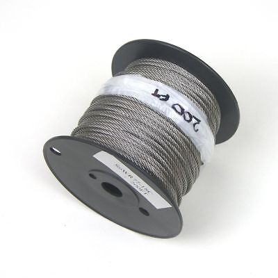 """200ft - Cable Railing T316 Stainless Steel Wire Rope Cable Strand, 1/8"""", 7x7"""