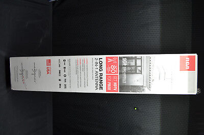 NEW in BOX RCA 2-IN-1 LONG RANGE ANTENNA ANT3037Z OUTDOOR - GET HDTV FOR FREE!