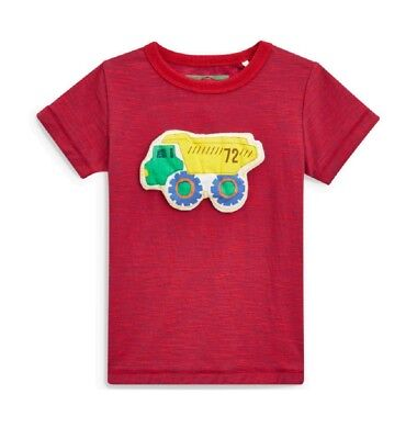 NEW Next Boy Red Truck T Shirt Age 18 24 Months Wadded / 3D Top Vehicle Themed