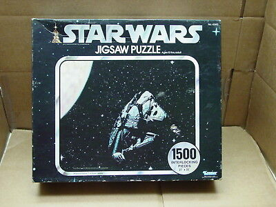 Vintage Star Wars 1500 Pc Jigsaw Puzzle Millennium Falcon Hyperspace 1977 Sealed