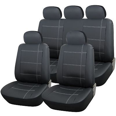 Land Rover Freelander 1 And 2  Heavy Duty Grey Leather Look Seat Covers
