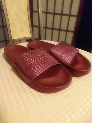 20b87384d68 Women s Puma Leadcat Red Leather Slide Sandal Sizes 6.5   8.5 Available