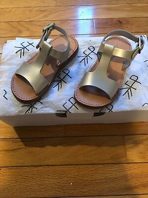 """ea8f15a8c Freshly Picked Malibu Sandals Platinum Gold Silver 7 Toddler 6.5"""" In Length"""