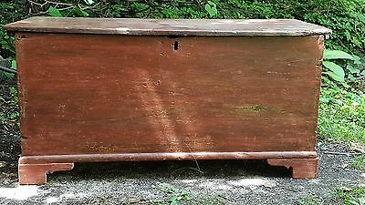 Antique Blanket Chest Trunk  Primitive Box 19th c.