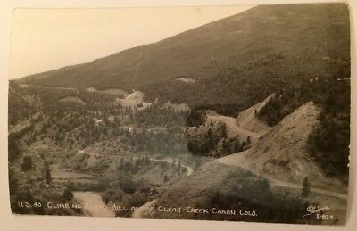US 40 Climbing Floyd Hill Out Of Clear Creek Canon Colorado RPPC Sanborn
