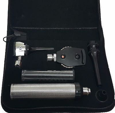 Veterinary Ophthalmoscope Otoscope Diagnostic Set, Whitest LED illumination