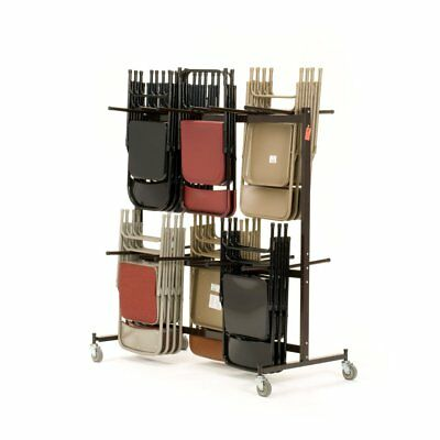 National Public Seating National Chair Caddy, Brown, Up to 84 chairs