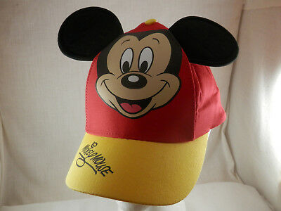 Disney Parks Mickey Mouse Ears  baseball cap hat youth 54-57cm red & Yellow NWT