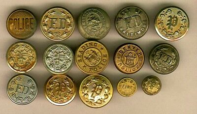 (27) Police & Fire Department Uniform Buttons