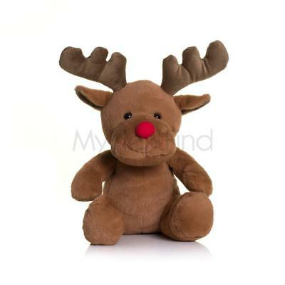Large Mumbles Rudolph Red Nose Reindeer Christmas Plush Soft Toy Teddy Bear