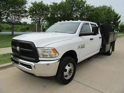 2013 Dodge Ram 3500 UTILITY BED 2013 DODGE Ram 3500 2WD Crew Cab 172 WB 60 CA Tradesman Cab and Chasis flatbed
