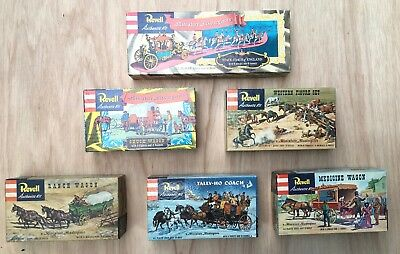 VTG 1950's Revell / Miniature Masterpieces Complete Set of 6 in Excellent Cond.