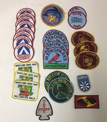 Vtg Large Lot of  26 NOS SEW ON PATCHES Random Mixed Motifs Camp