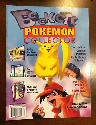 Beckett Pokemon Collector 1St Issue Vol 1 Number 1 September 1999 Rare Near Mint