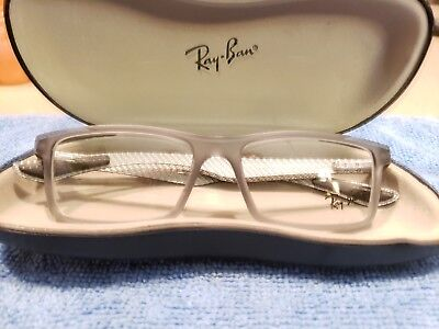 c80876caea Ray Ban RB 8901 5244 Eyeglass frames Matte Gray Carbon Fiber 53 17 145 New
