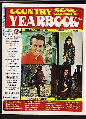 Spring 1974 country song roundup yearbook Bill Anderson Loretta Lynn