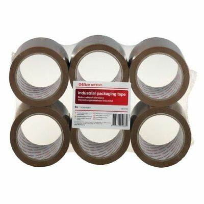 Office Depot Industrial Low Noise Packaging Tape Brown 50mm x 66m