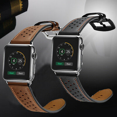 For Apple Watch Series 4 Leather Watch Strap Band iWatch 40mm/44mm